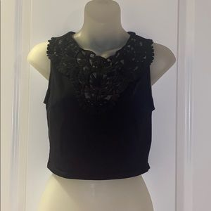 NEW Forever21 Black Lace Detail Tank